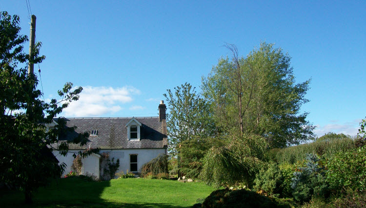 Back Garden at Black Isle Cottage Self Catering